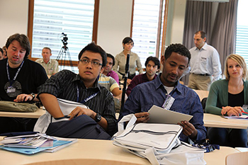 Students at the ICE summer school