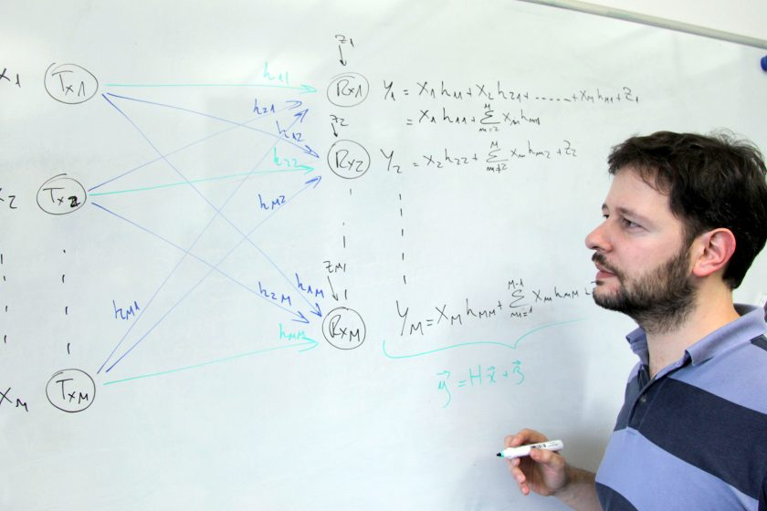 Jorge F. Schmidt explaining interference alignment